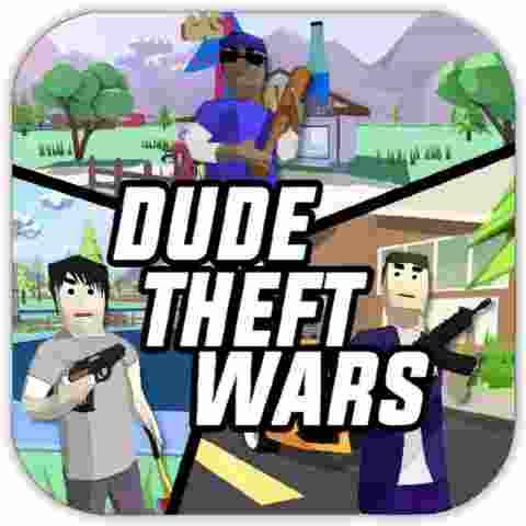 Dude Theft Wars Mod APK Logo