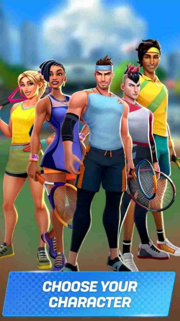 tennis clash mod apk unlimited money