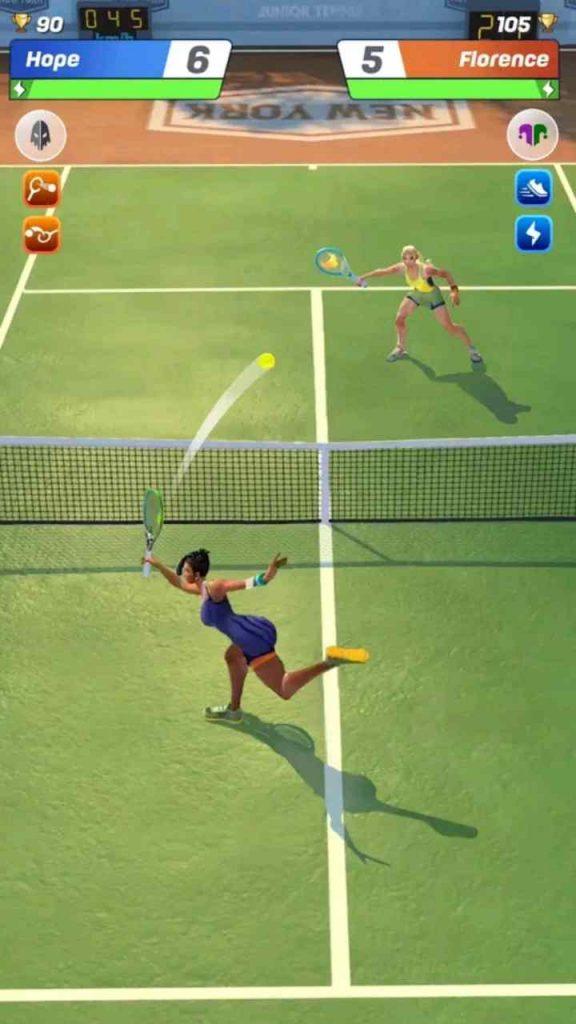 tennis clash mod apk unlimited money gems